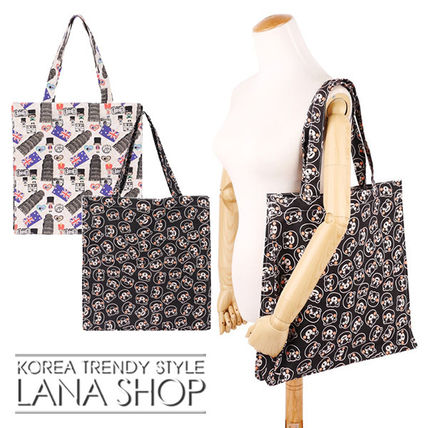 Casual Style Other Animal Patterns Shoppers