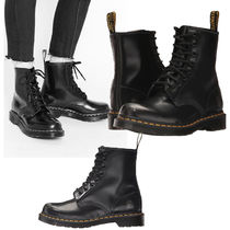 Dr Martens Plain Leather Flat Boots