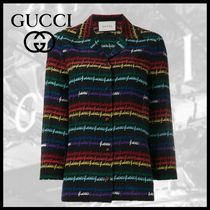 GUCCI Casual Style Long Sleeves Medium Shirts & Blouses