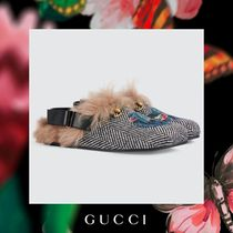 GUCCI Blended Fabrics Other Animal Patterns Oxfords