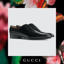 GUCCI Plain Leather Oxfords
