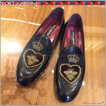 Dolce & Gabbana Flower Patterns Plain Toe Oxfords