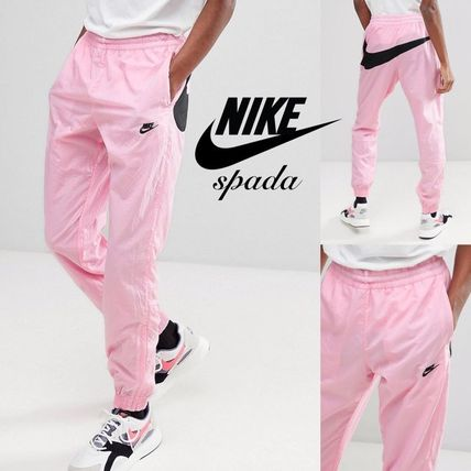 Nylon Street Style Bi-color Joggers & Sweatpants