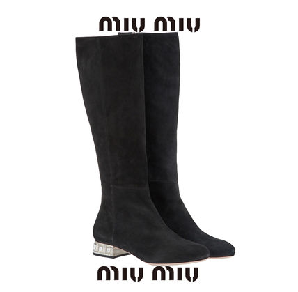 Casual Style Plain Flat Boots