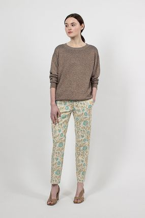 Dries Van Noten Flower Patterns Medium Elegant Style Cropped & Capris Pants