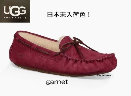 Moccasin Casual Style Unisex Fur Plain Slip-On Shoes