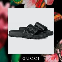 GUCCI Leather Shower Shoes Shower Sandals