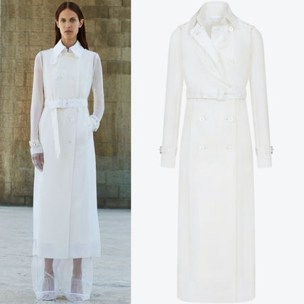 18SS G219 LO 1 COTTON & ORGANZA TRENCH COAT