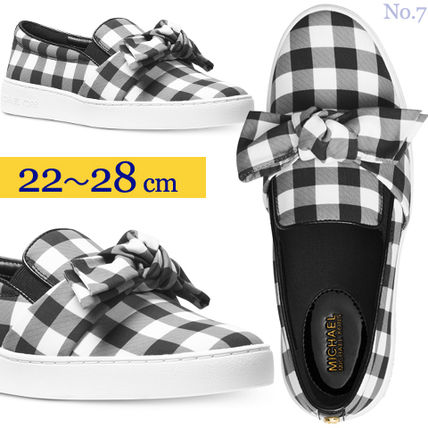 Gingham Other Check Patterns Round Toe Rubber Sole
