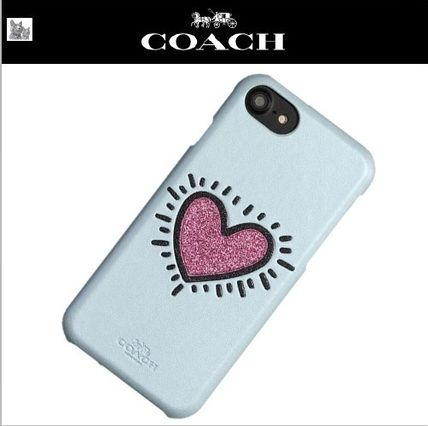 Heart Leather Smart Phone Cases