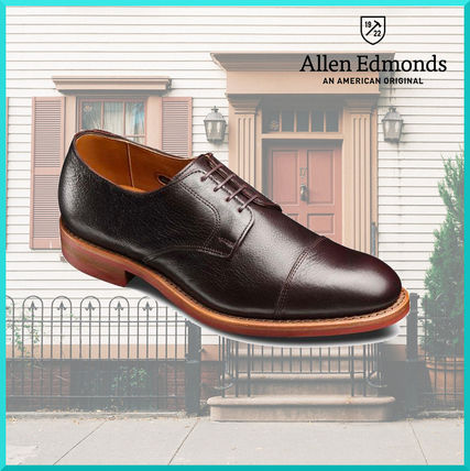 Straight Tip Plain Leather Oxfords