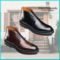 Allen Edmonds Plain Toe Plain Leather Chukkas Boots