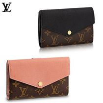 Louis Vuitton Monogram Blended Fabrics Studded Leather Long Wallets