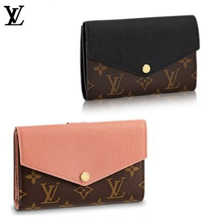 Monoglam Blended Fabrics Studded Leather Long Wallets