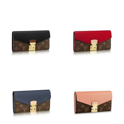 Monoglam Leather Long Wallets