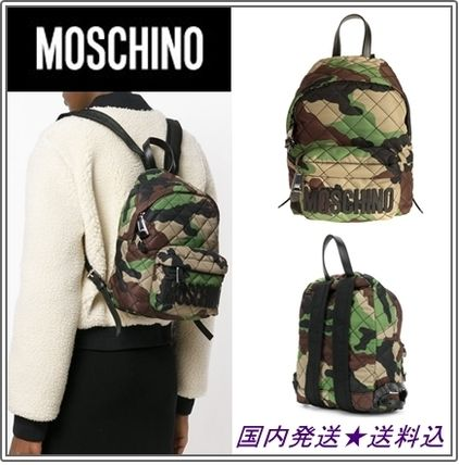 Camouflage Casual Style Khaki Backpacks