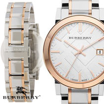 Burberry Round Quartz Watches Stainless Analog Watches