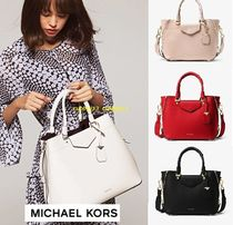Michael Kors 2WAY Plain Leather Office Style Totes