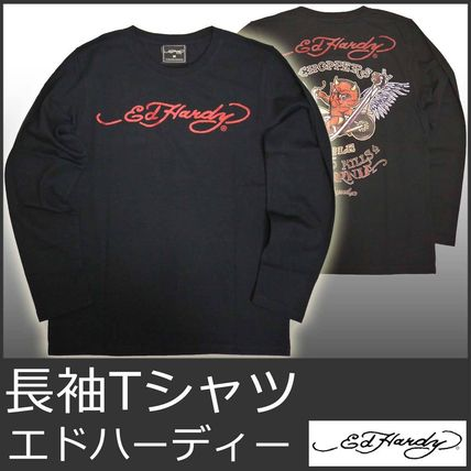 Crew Neck Street Style Long Sleeves Other Animal Patterns