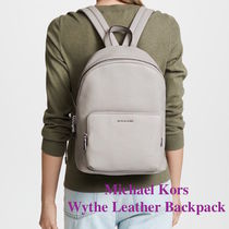 Michael Kors Unisex Plain Leather Elegant Style Backpacks