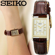 SEIKO Square Quartz Watches Stainless Analog Watches