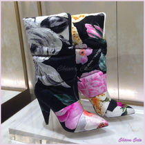 Jimmy Choo Flower Patterns Collaboration Leather Pin Heels