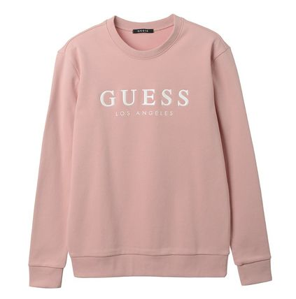 Guess Sweatshirts Crew Neck Unisex Street Style Cotton Sweatshirts 2