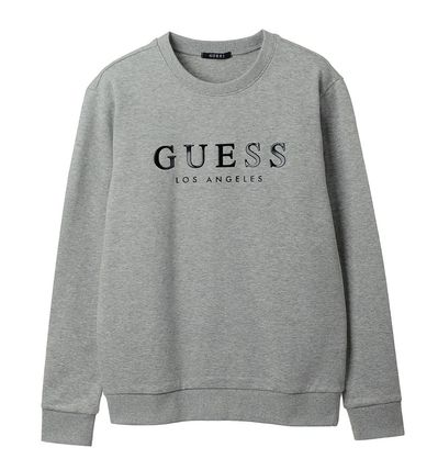 Guess Sweatshirts Crew Neck Unisex Street Style Cotton Sweatshirts 3