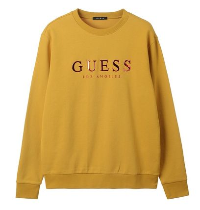 Guess Sweatshirts Crew Neck Unisex Street Style Cotton Sweatshirts 7