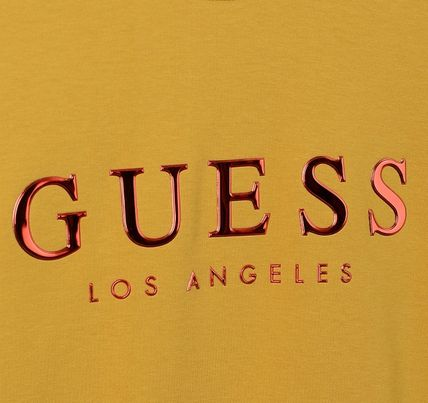Guess Sweatshirts Crew Neck Unisex Street Style Cotton Sweatshirts 9