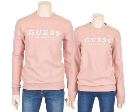 Guess Sweatshirts Crew Neck Unisex Street Style Cotton Sweatshirts 12