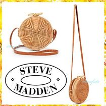 Steve Madden Casual Style Plain Straw Bags