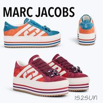 MARC JACOBS Platform Round Toe Casual Style Street Style Leather