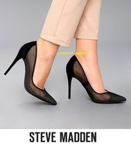 Steve Madden Plain Pin Heels Elegant Style Pointed Toe Pumps & Mules