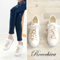 Star Round Toe Lace-up Casual Style Blended Fabrics