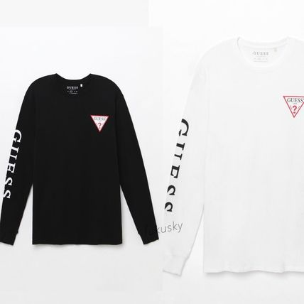 Guess 2018 Ss Crew Neck Long Sleeves Logos On The Sleeves By Fukusky