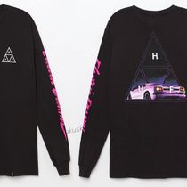 HUF Crew Neck Long Sleeves Logos on the Sleeves