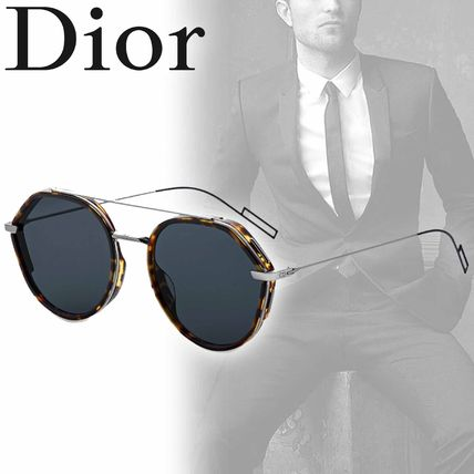 DIOR HOMME 2018 SS Street Style Round Sunglasses (DIOR219S_3MAA9) by ...