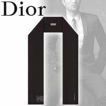 DIOR HOMME Wool Street Style Plain Scarves