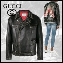 GUCCI Other Animal Patterns Leather Biker Jackets