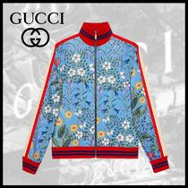 GUCCI Flower Patterns Varsity Jackets