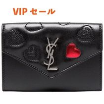 Saint Laurent Heart Leather Card Holders