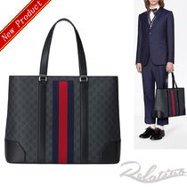 GUCCI Street Style A4 Leather Totes