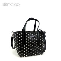 Jimmy Choo Star Studded 2WAY Plain Leather Elegant Style Totes