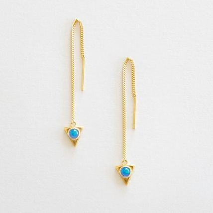 Casual Style Handmade 14K Gold Earrings & Piercings
