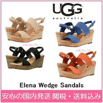 UGG Australia Open Toe Plain Elegant Style Platform & Wedge Sandals