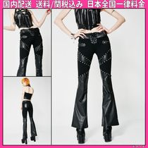 DOLLS KILL Casual Style Faux Fur Studded Long