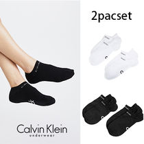 Calvin Klein Street Style Plain Cotton Socks & Tights