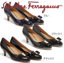 Salvatore Ferragamo Plain Kitten Heel Pumps & Mules