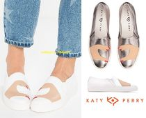 Katy Perry Round Toe Rubber Sole Casual Style Street Style Plain